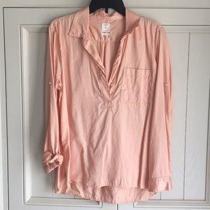 Gap coral peach blouse. Size large